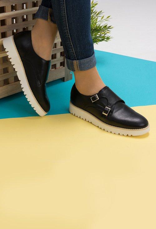Pantofi negri din piele naturala Alexey