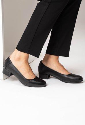 Pantofi negri din piele naturala Azaleya