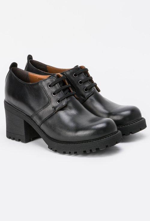 Pantofi negri din piele naturala Rooney