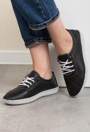 Pantofi negri din piele naturala Stela