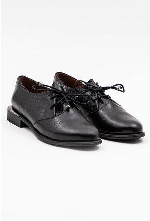 Pantofi negri tip Oxford din piele naturala texturata