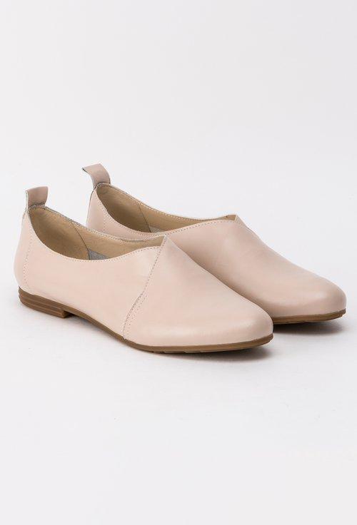 Pantofi bej din piele naturala Ava