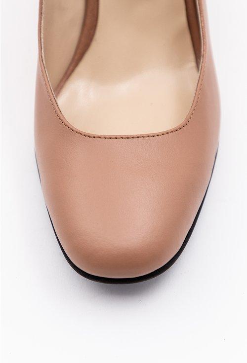Pantofi office bej din piele naturala