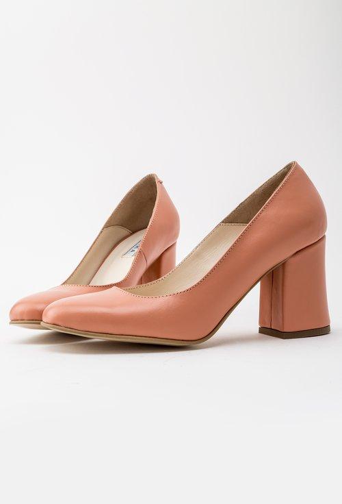 Pantofi office corai deschis din piele naturala Rox