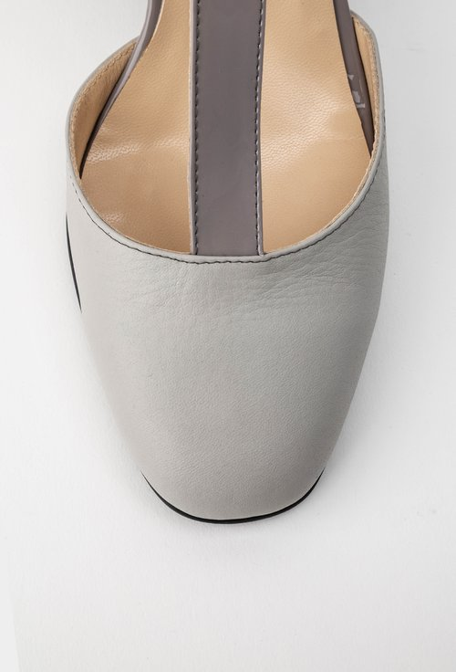 Pantofi office grej din piele naturala Misty