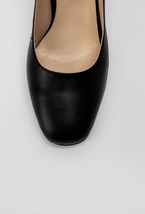 Pantofi office negri din piele naturala Rox