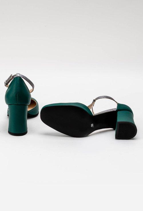 Pantofi office verzi din piele naturala Misty