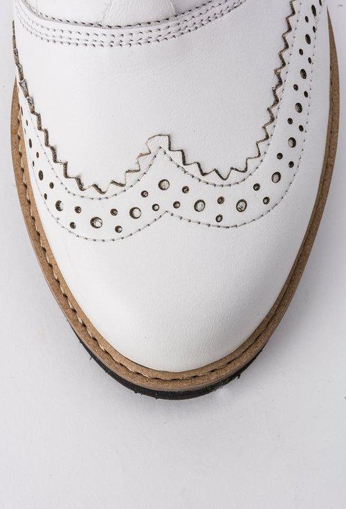 Pantofi Oxford alb natur din piele naturala Iasmina