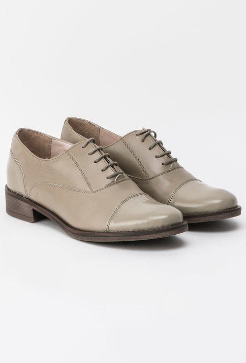 Pantofi Oxford bej inchis din piele naturala Madison