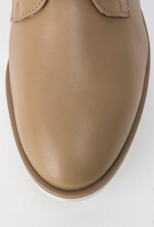 Pantofi Oxford bej inchis din piele naturala Meredith