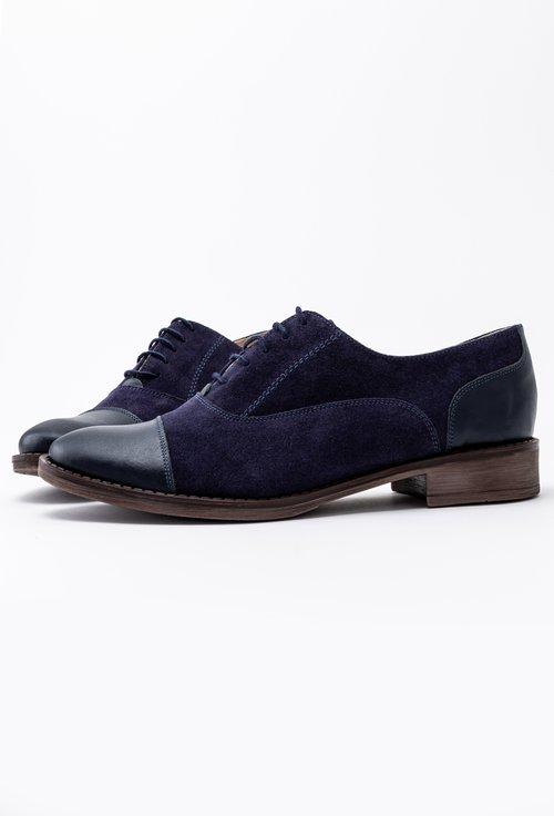 Pantofi Oxford bleumarin din piele naturala Aylin