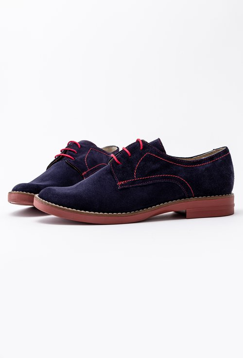 Pantofi Oxford bleumarin din piele naturala Erika