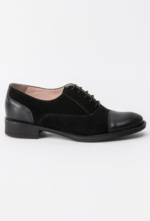Pantofi Oxford negri din piele naturala Alec