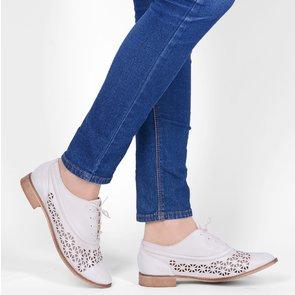 Pantofi Oxford crem din piele naturala Joviale
