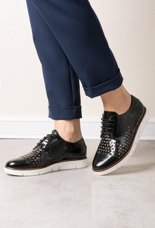 Pantofi Oxford din piele naturala negri Azaleea