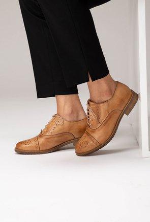 Pantofi Oxford cognac din piele naturala Oscar