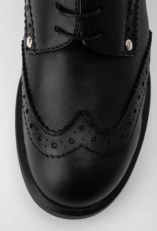 Pantofi oxford negri din piele naturala
