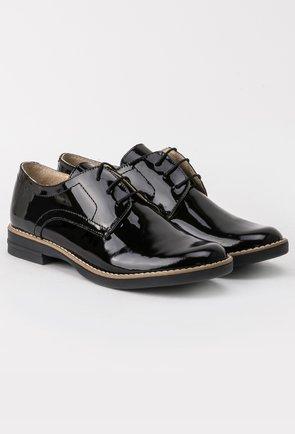 Pantofi Oxford negri din piele naturala Inna