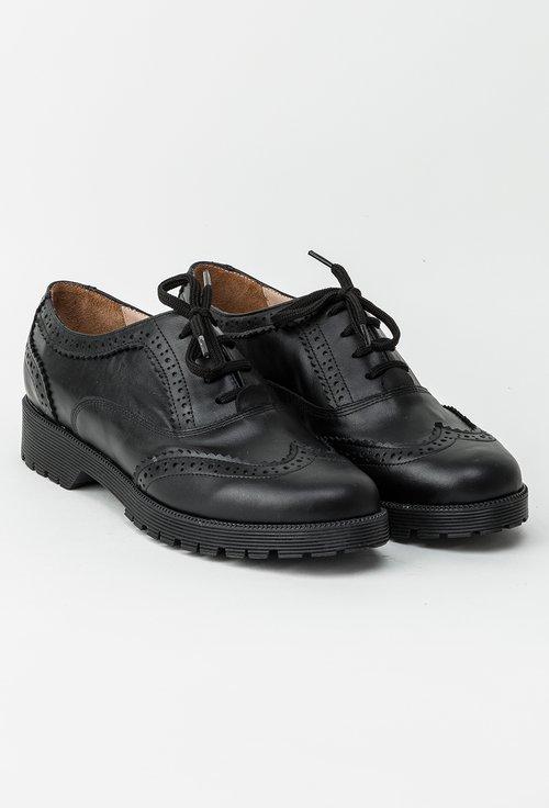 Pantofi Oxford negri din piele naturala July