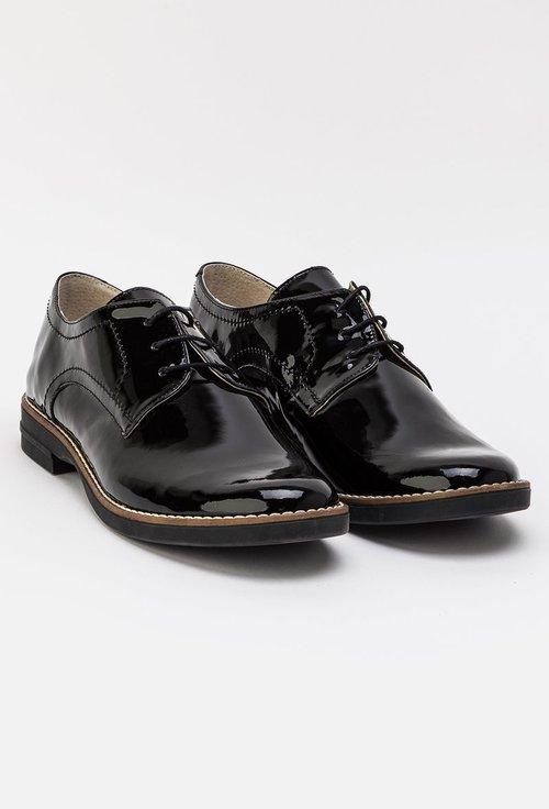 Pantofi Oxford negri din piele naturala Lexi