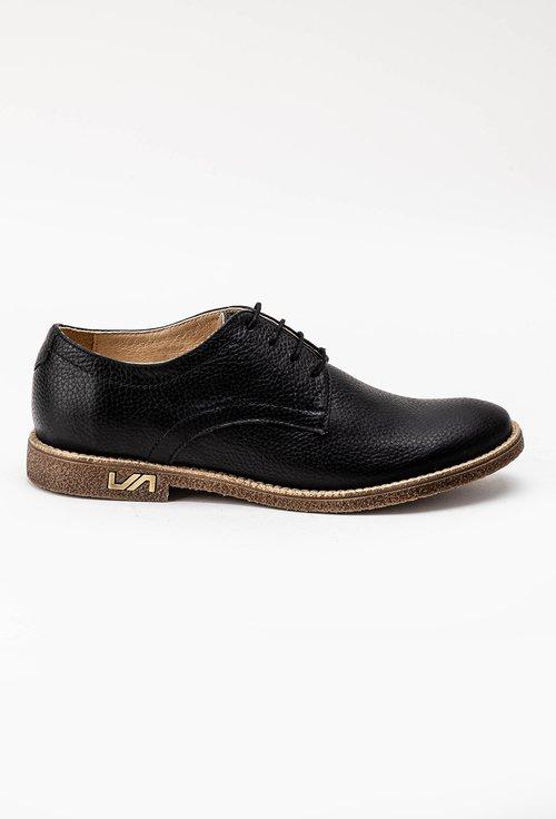 Pantofi oxford negri din piele naturala Molly