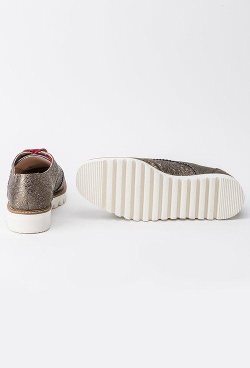 Pantofi Oxford nuanta bronzului din piele naturala Kriss