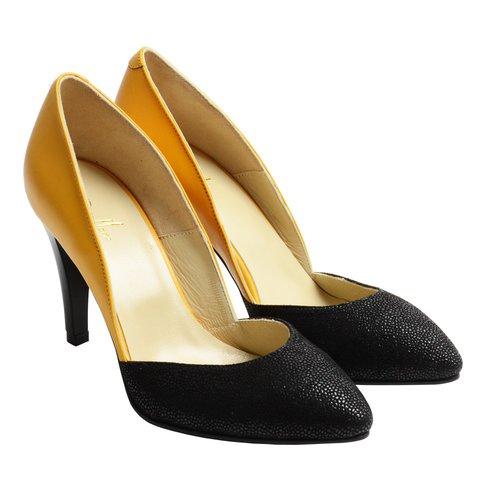 Pantofi Piele cu Toc Inalt Bee