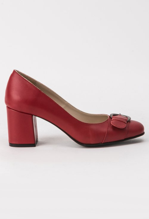 Pantofi rosii din piele naturala Adele