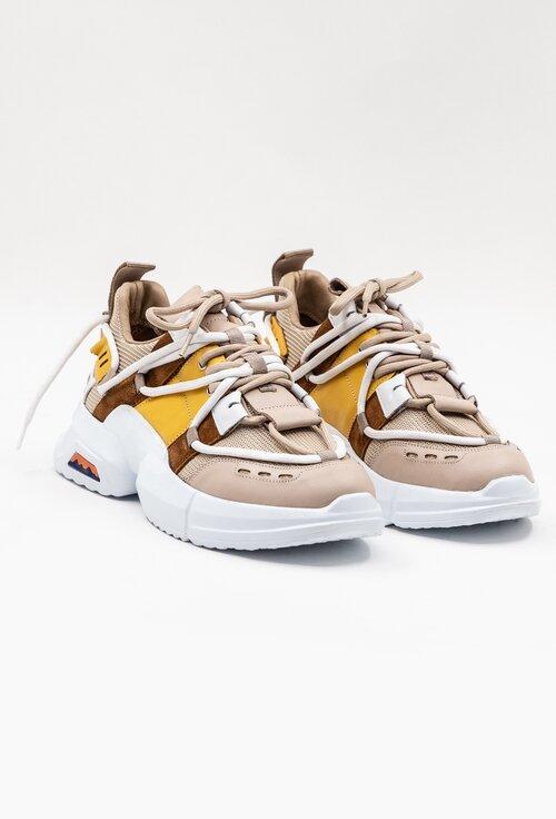 Pantofi sport din piele in diferite nuante