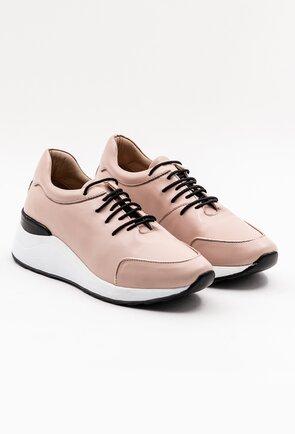 Pantofi sport din piele naturala roz pal