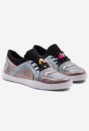 Pantofi sport din piele naturala sidefata