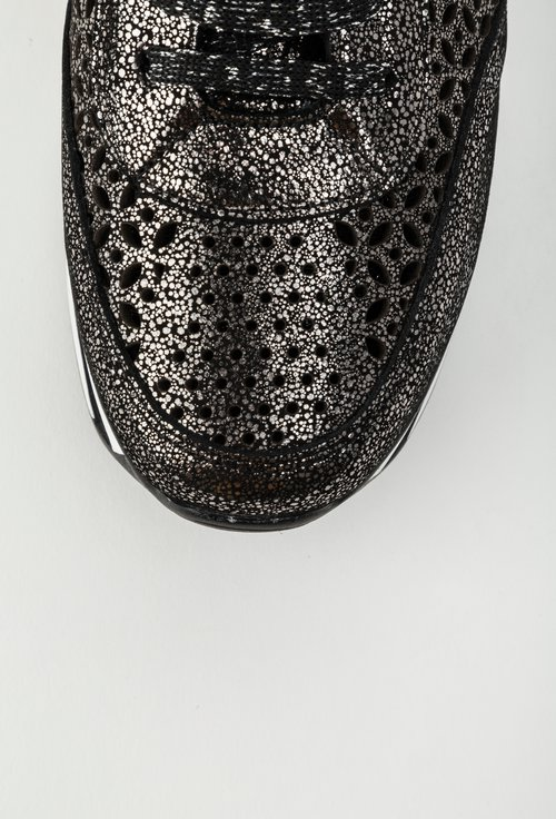 Pantofi sport negri din piele naturala perforata Labonita