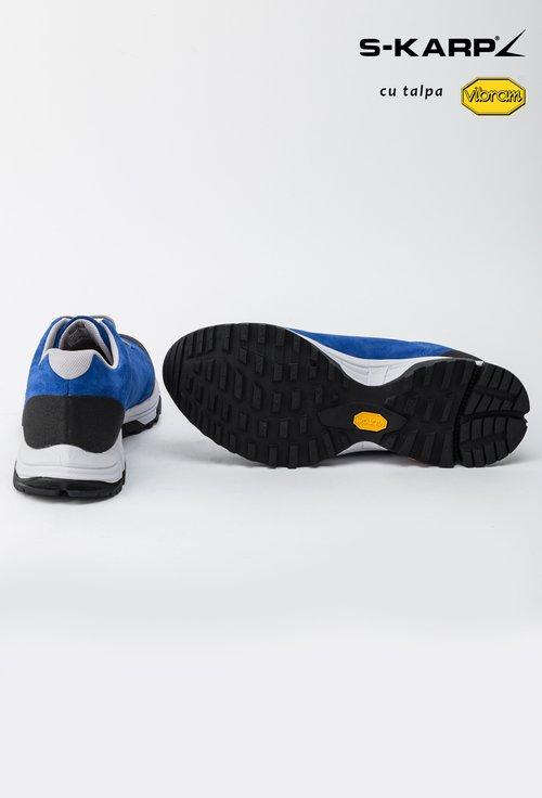 Pantofi sport S-Karp albastru regal din piele naturala Roger