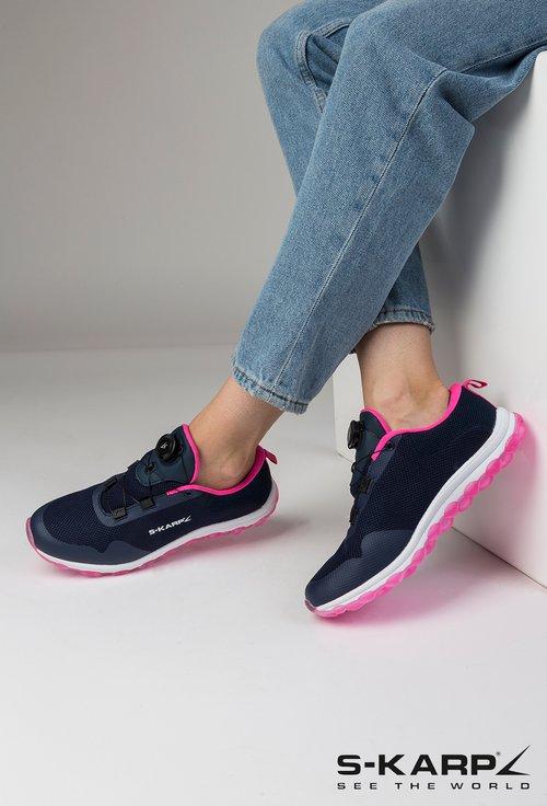 Pantofi sport S-Karp Sneaker Vision nuanta bleumarin cu roz