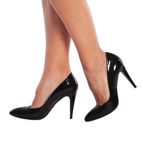 Pantofi Stiletto din piele naturala Sonia