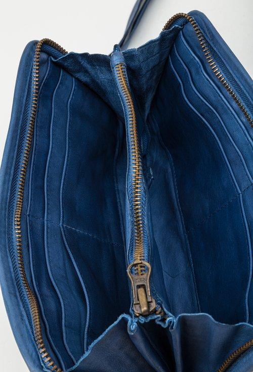 Portofel albastru din piele naturala 145013