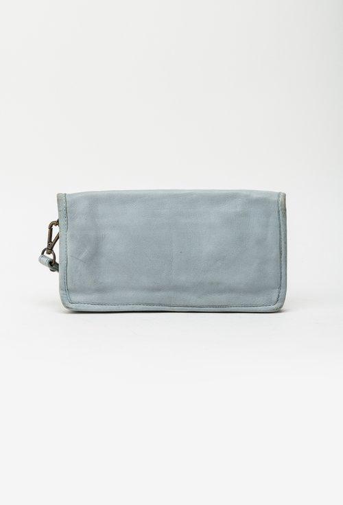 Portofel bleu din piele naturala cu tinte 145027