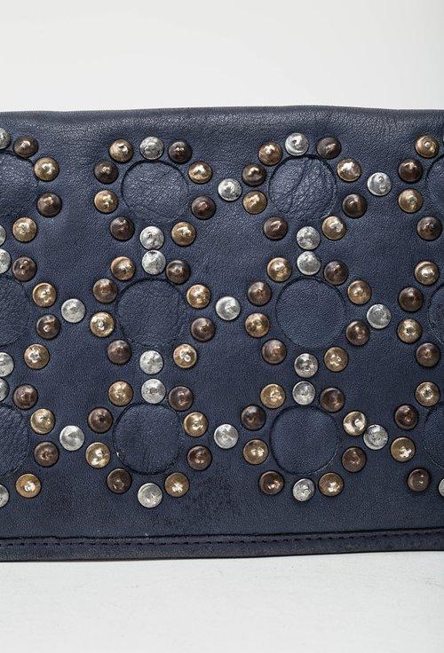 Portofel bleumarin din piele naturala cu tinte 145029