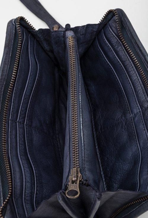 Portofel bleumarin inchis din piele naturala 145016