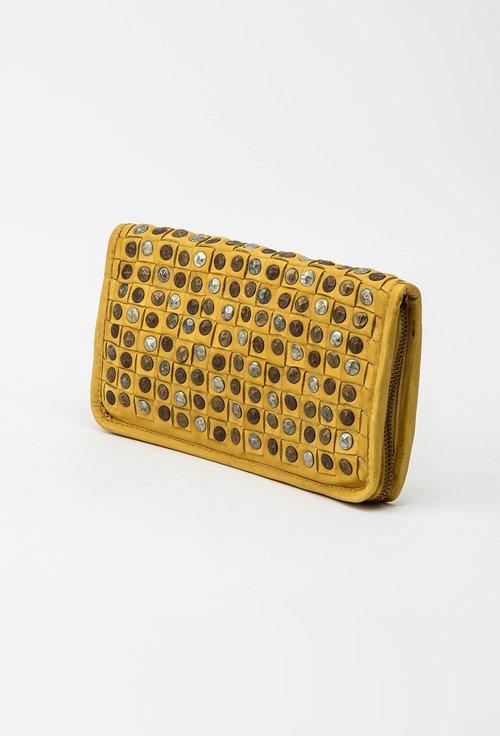 Portofel galben din piele naturala cu tinte 145041