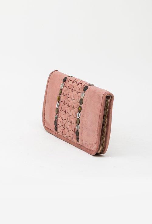Portofel roz din piele naturala 145019