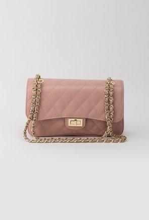 Poseta roz pal din piele naturala Missy