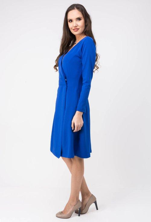 Rochie albastra parte peste parte Anisia