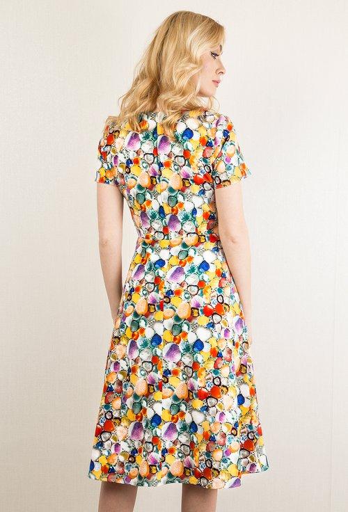Rochie casual cu imprimeu multicolor Candy