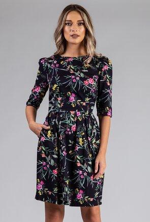 Rochie cu imprimeu colorat din bumbac