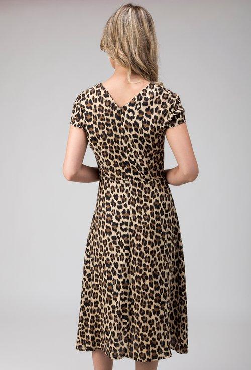 Rochie cu imprimeu de leopard Tessa