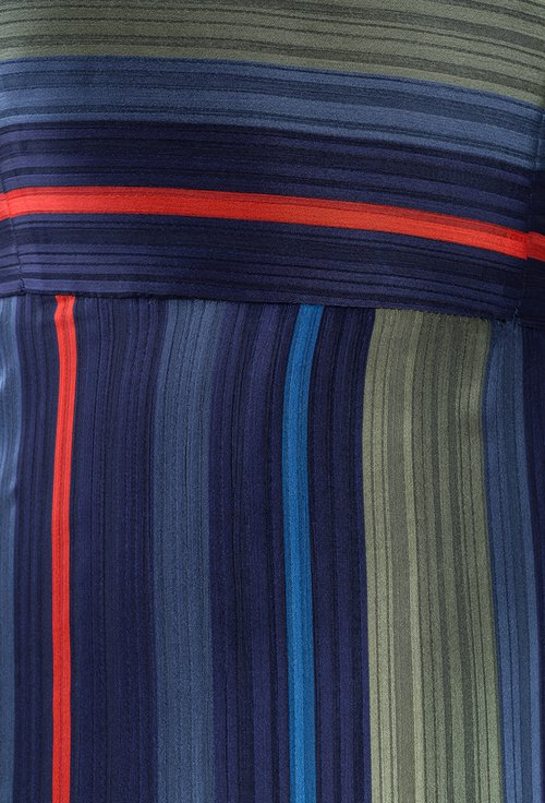 Rochie cu model in dungi multicolore Ivone