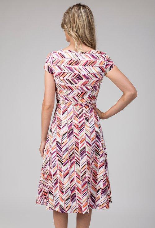 Rochie din bumbac cu imprimeu abstract colorat Darmina