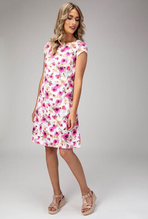 Rochie din bumbac cu imprimeu floral colorat Tonia