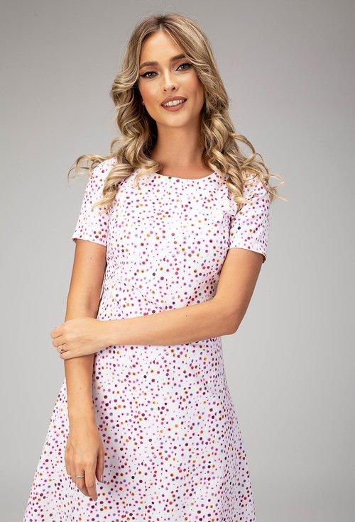 Rochie din bumbac cu imprimeu multicolor Alice